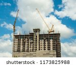 construction site with blue sky | Shutterstock . vector #1173825988