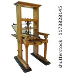 vintage old letterpress... | Shutterstock . vector #1173828145