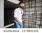stylish tall arabian man model... | Shutterstock . vector #1173832102