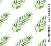 watercolor leaves  seamless... | Shutterstock . vector #1173832885