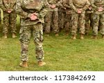 us troops. us soldiers. us army | Shutterstock . vector #1173842692