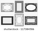 vintage card set | Shutterstock .eps vector #117384586
