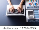 accounting calculating... | Shutterstock . vector #1173848275