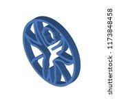 vitruvian man isometric left... | Shutterstock .eps vector #1173848458