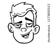 man with happy face cartoon...   Shutterstock .eps vector #1173850312