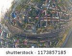 junction railway station with...   Shutterstock . vector #1173857185