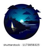 natural night landscape.... | Shutterstock .eps vector #1173858325
