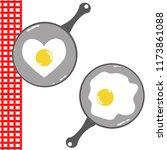 vector   cute fried eggs in...   Shutterstock .eps vector #1173861088