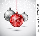 Background With Christmas Ball...