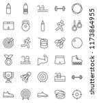 thin line vector icon set  ... | Shutterstock .eps vector #1173864955