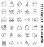 thin line vector icon set  ... | Shutterstock .eps vector #1173865132