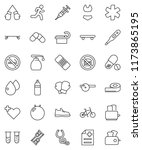 thin line vector icon set  ... | Shutterstock .eps vector #1173865195