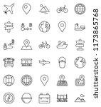 thin line vector icon set  ... | Shutterstock .eps vector #1173865768