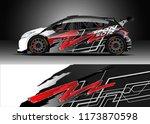 car decal wrap design vector.... | Shutterstock .eps vector #1173870598