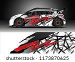 car decal wrap design vector....   Shutterstock .eps vector #1173870625