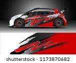 car decal wrap design vector....   Shutterstock .eps vector #1173870682