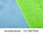 Colorful towels macro texture background - stock photo