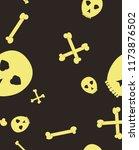 halloween festive pattern.... | Shutterstock .eps vector #1173876502
