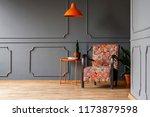 bright orange ceiling light... | Shutterstock . vector #1173879598