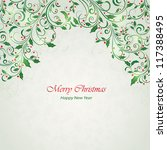 abstract christmas ornament... | Shutterstock .eps vector #117388495