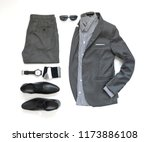 men's casual outfits for man... | Shutterstock . vector #1173886108