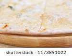 close up of four cheeses pizza | Shutterstock . vector #1173891022