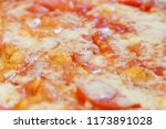 close up of margarita pizza | Shutterstock . vector #1173891028