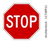 Vector Illustration Of Stop...