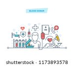 blood donor. volunteer  medical ... | Shutterstock . vector #1173893578