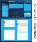 dashboard user interface for... | Shutterstock .eps vector #1173893872