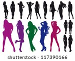 vector silhouettes drawing...