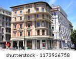 historic downtown in lugano ... | Shutterstock . vector #1173926758