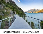bicycle road and footpath over... | Shutterstock . vector #1173928525
