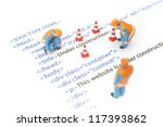 printed html code of website ... | Shutterstock . vector #117393862