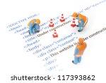 printed html code of website ... | Shutterstock . vector #117393862