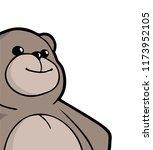happy teddy bear draw | Shutterstock .eps vector #1173952105