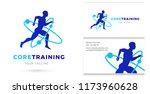 core training  man running... | Shutterstock .eps vector #1173960628