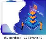 big data storage or data... | Shutterstock .eps vector #1173964642