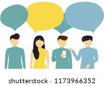 people's communication with... | Shutterstock .eps vector #1173966352