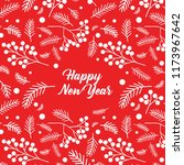 vector christmas card with pine ... | Shutterstock .eps vector #1173967642