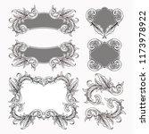 set of vintage baroque frame...   Shutterstock .eps vector #1173978922