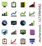 color and black flat icon set   ... | Shutterstock .eps vector #1173984082