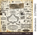 christmas decoration collection ... | Shutterstock .eps vector #117398842