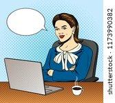 vector color pop art comic... | Shutterstock .eps vector #1173990382