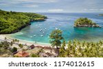 aerial view of the crystal bay... | Shutterstock . vector #1174012615
