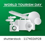 paper world tourism day tourism ... | Shutterstock .eps vector #1174026928