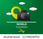 paper world tourism day tourism ... | Shutterstock .eps vector #1174026952