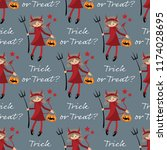 halloween seamless pattren with ...   Shutterstock .eps vector #1174028695