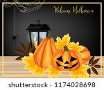 halloween background with...   Shutterstock .eps vector #1174028698