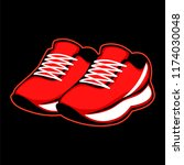 sports footwear  athletic shoes ... | Shutterstock .eps vector #1174030048